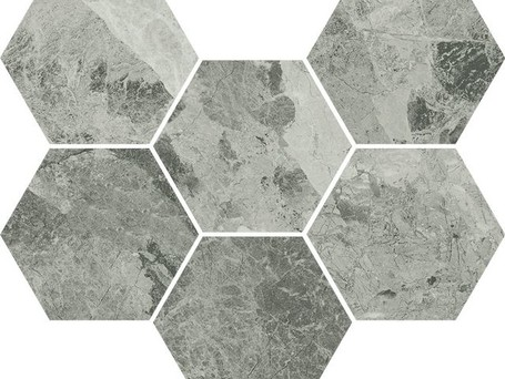Italon Charme Extra Floor Project Silver Mosaico Hexagon (Италон Шарм Экстра Флор Проджект Экстра Силвер Мозаика Гексагон)