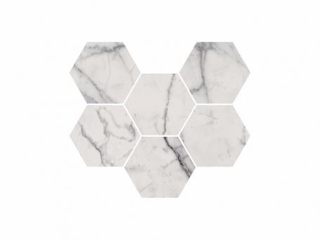 Italon Charme Evo Statuario Mosaico Hexagon (Италон Шарме Эво Статуарио)