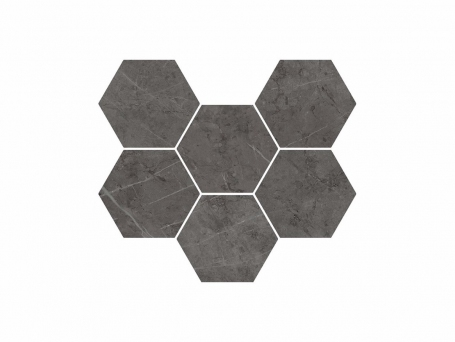 Italon Charme Evo Antracite Mosaico Hexagon (Италон Шарме Эво Антрацит)